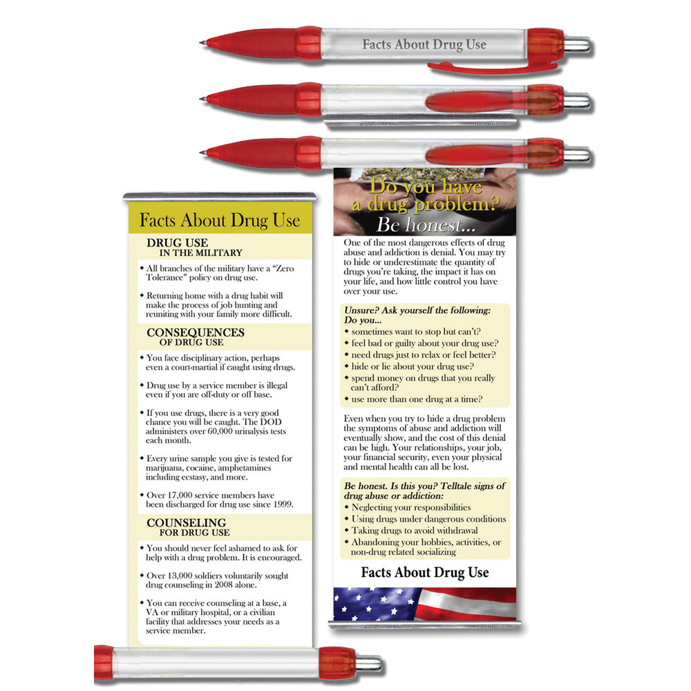 Facts About Drug Use   Military Instant Facts Banner Pen