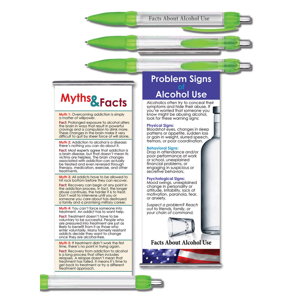 Facts About Alcohol Use   Military Instant Facts Banner Pen