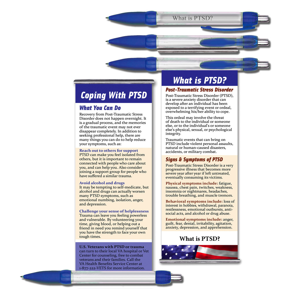 What is PTSD?   Military Instant Facts Banner Pen