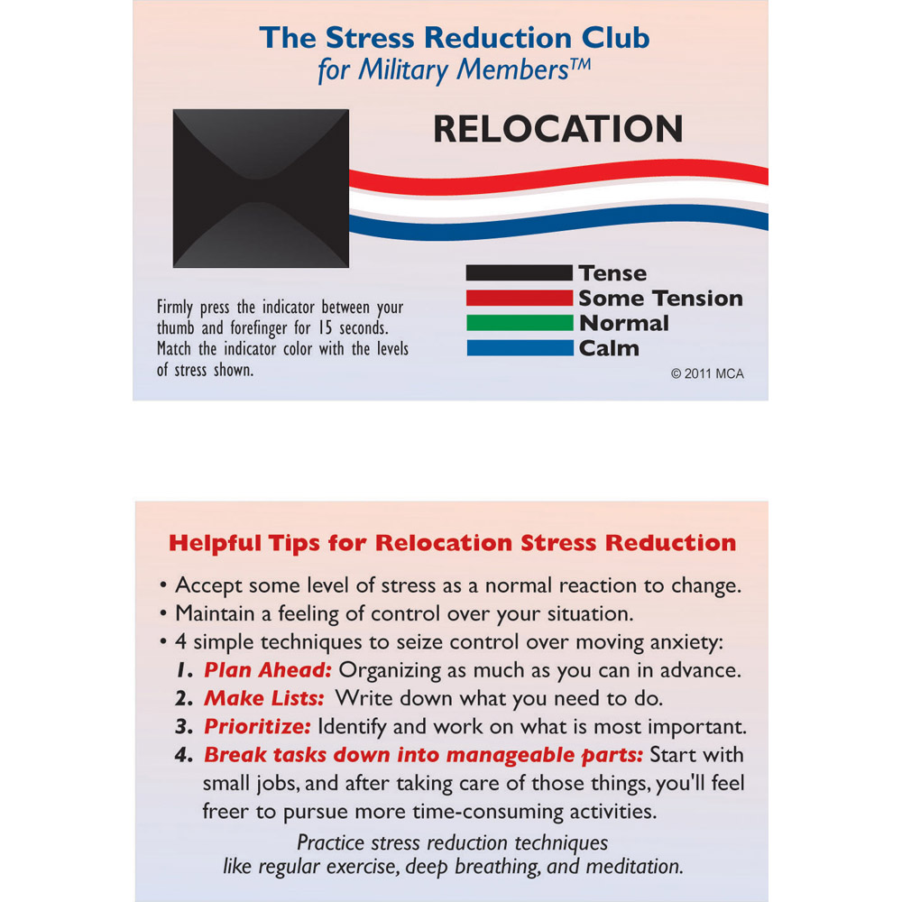 Stress Card: (25 Pack) Relocation