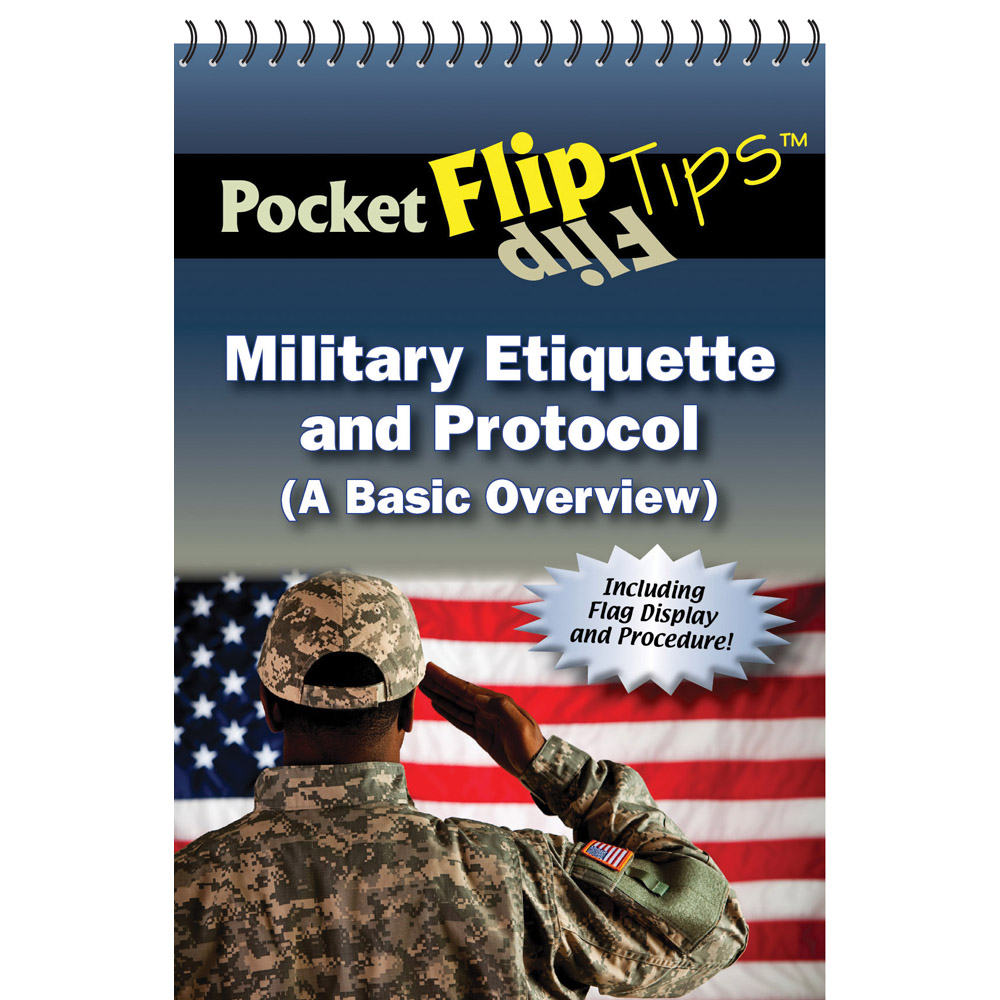 Pocket Flip Tip Book: (10 Pack) Military Etiquette & Protocol
