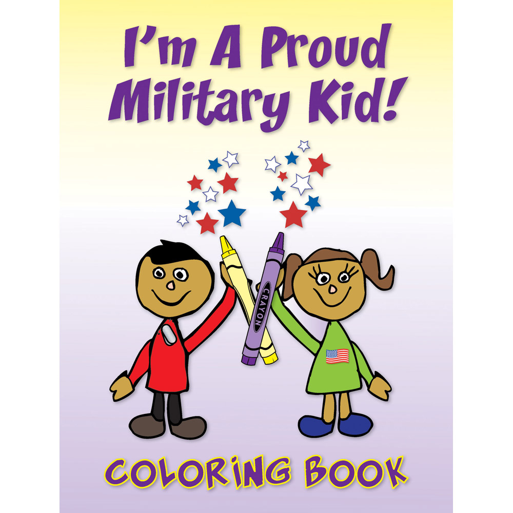 Yellow Ribbon Coloring Book: (50 Pack) I'm A Proud Military Kid!