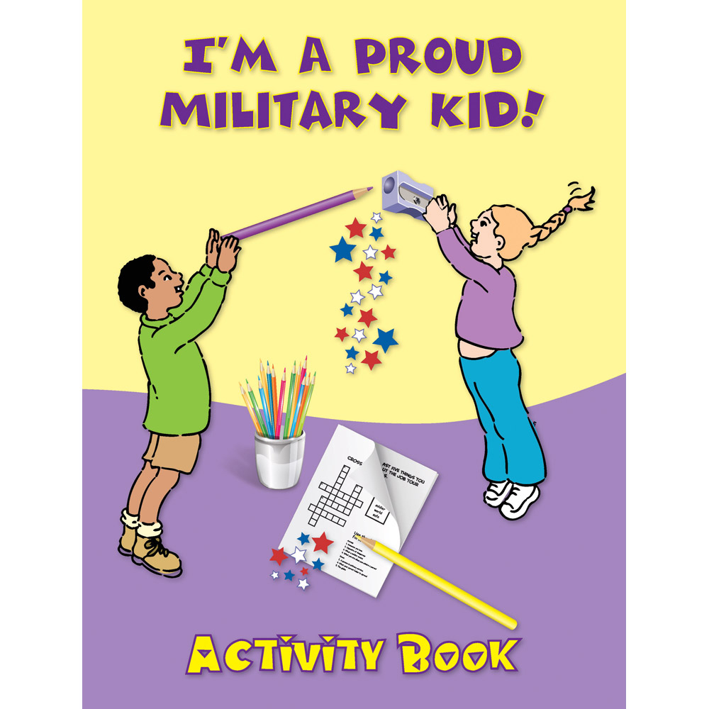 Yellow Ribbon Activity Book: (50 Pack) I'm A Proud Military Kid!