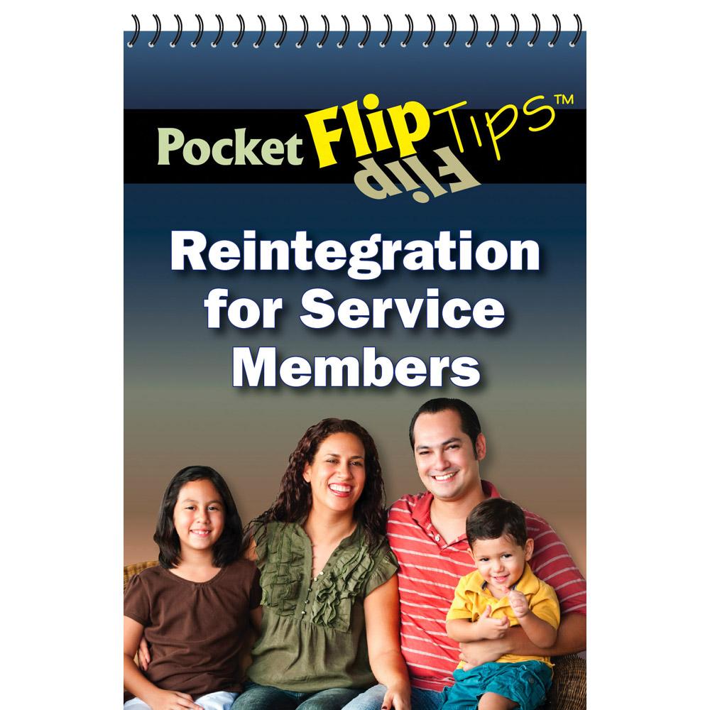 Pocket Flip Tip Book: (10 Pack) Reintegration for Service Members