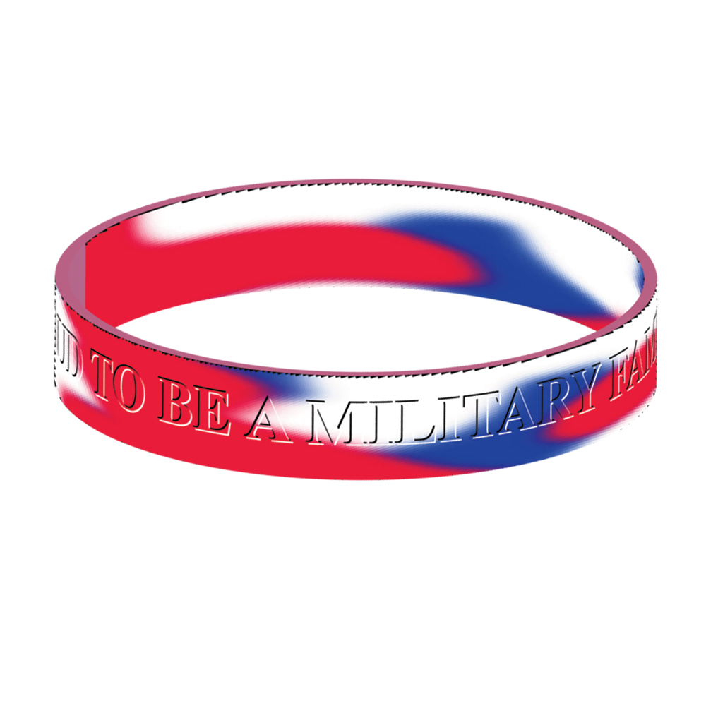 Proud to be a Military Family (10 Pack) Silicone Bracelet