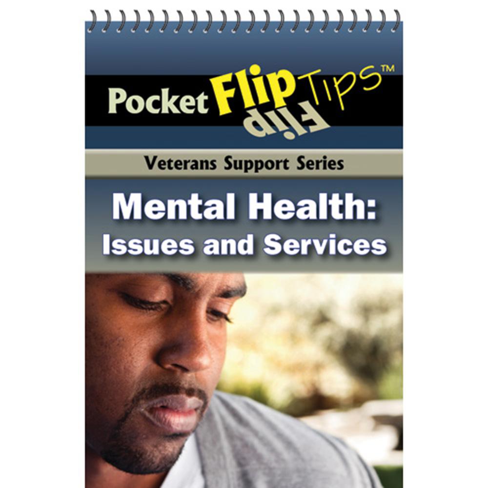 VA Pocket Flip Tip Book: (10 Pack) Mental Health Issues & Services