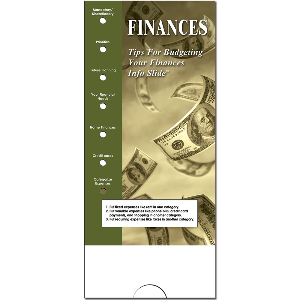Military Info Slide: (25 Pack) Finances