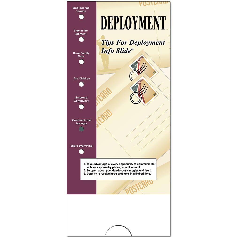 Military Info Slide: (25 Pack) Deployment