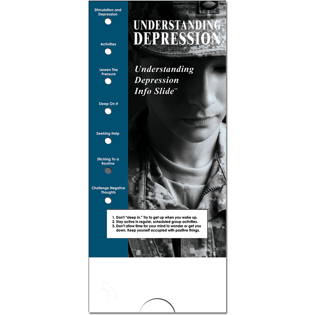 Military Info Slide: (25 Pack) Understanding Depression