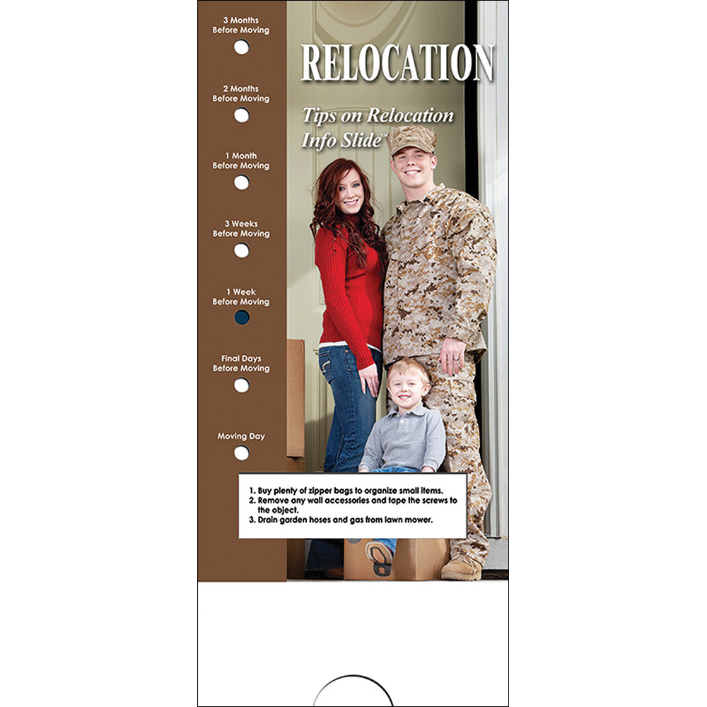 Military Info Slide: (25 Pack) Relocation
