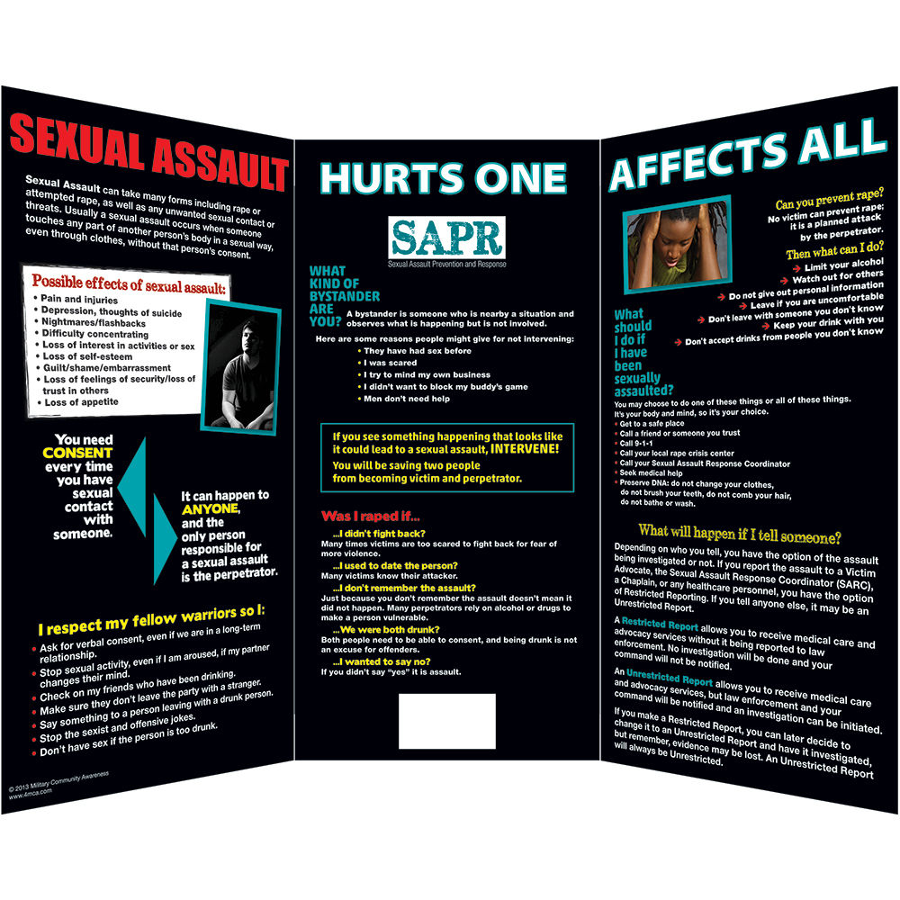 Sexual Assault Prevention Display Board