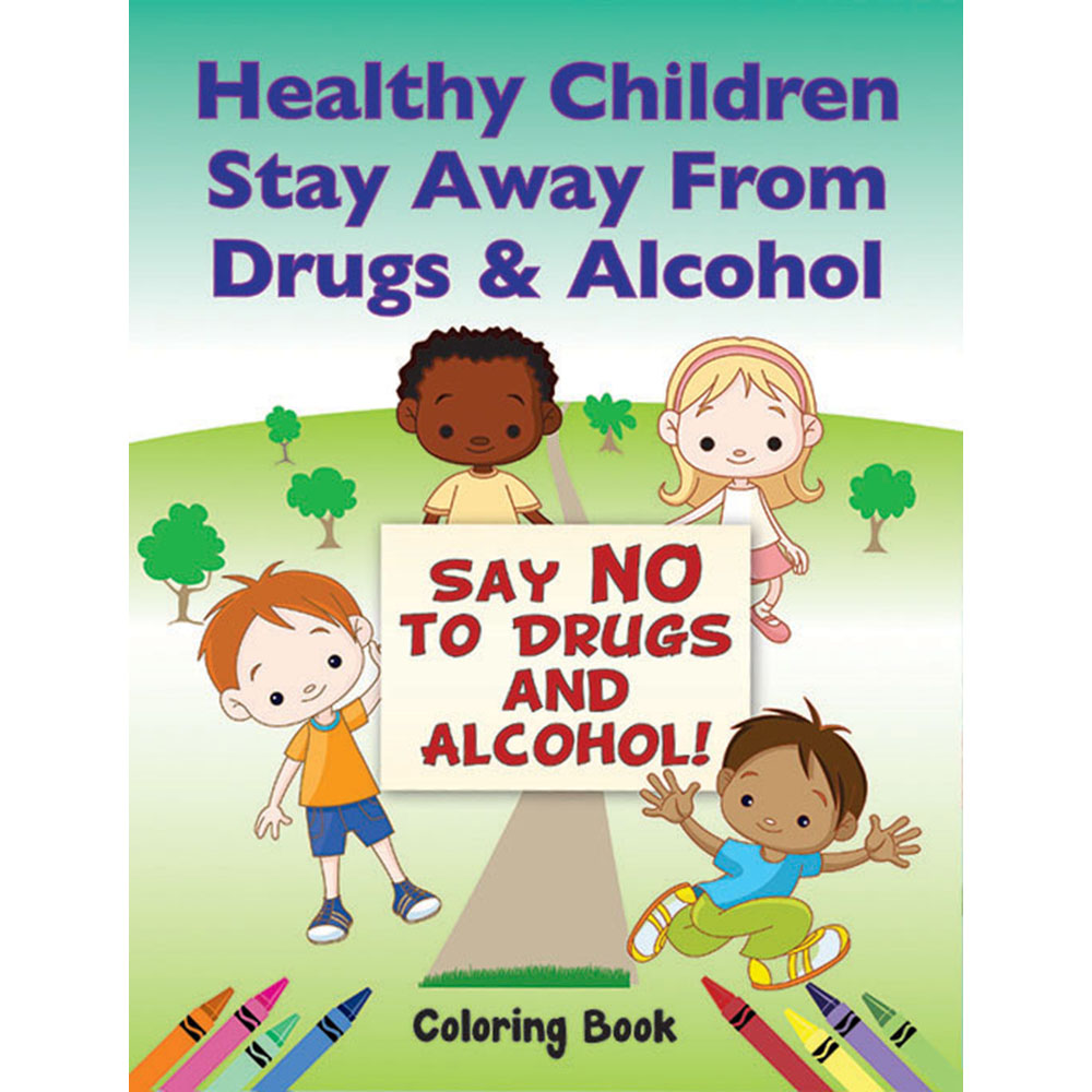 color me coloring book 50 pack healthy children stay away from drugs and alcohol