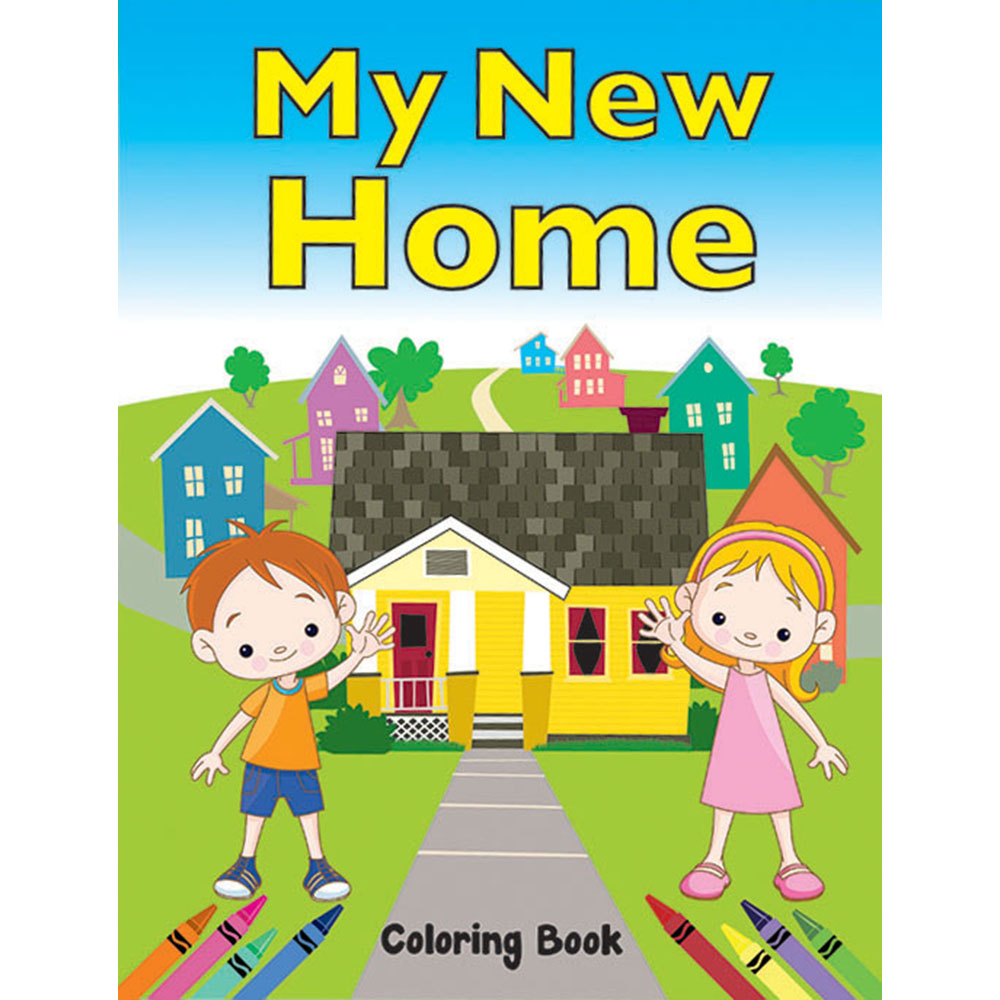 Color Me Coloring Book: (50 Pack) My New Home Coloring Book