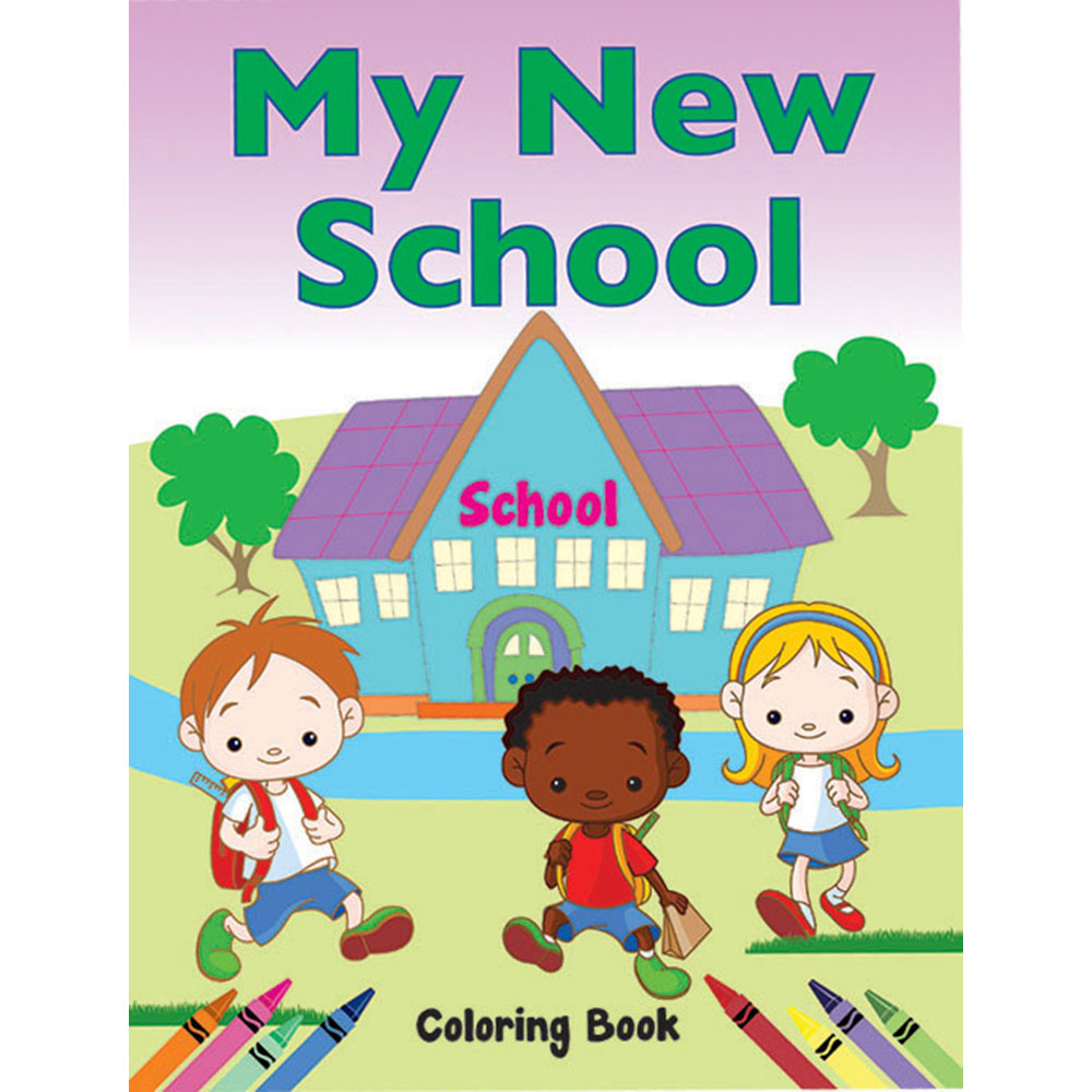 Color Me Coloring Book: (50 Pack) My New School