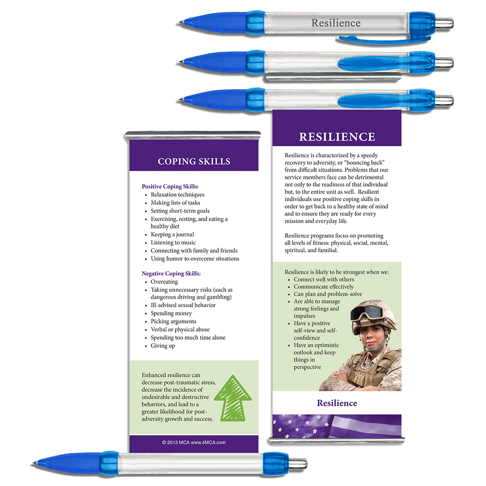 Resilience  Military Instant Facts Banner Pen