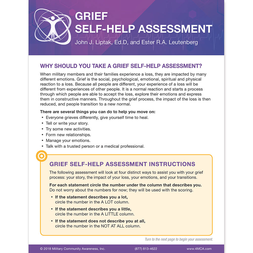 Grief Self‑Help  Assessment
