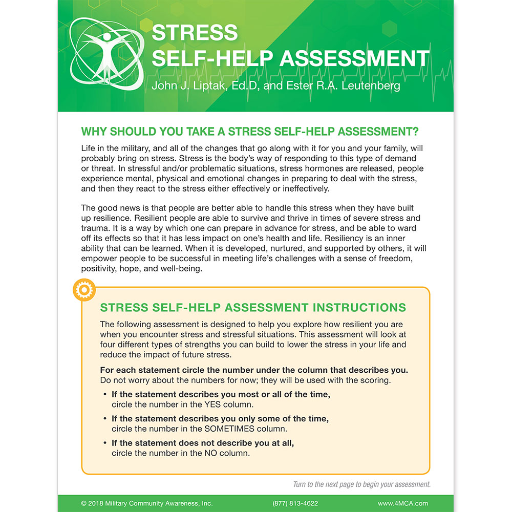 Stress Self‑Help  Assessment