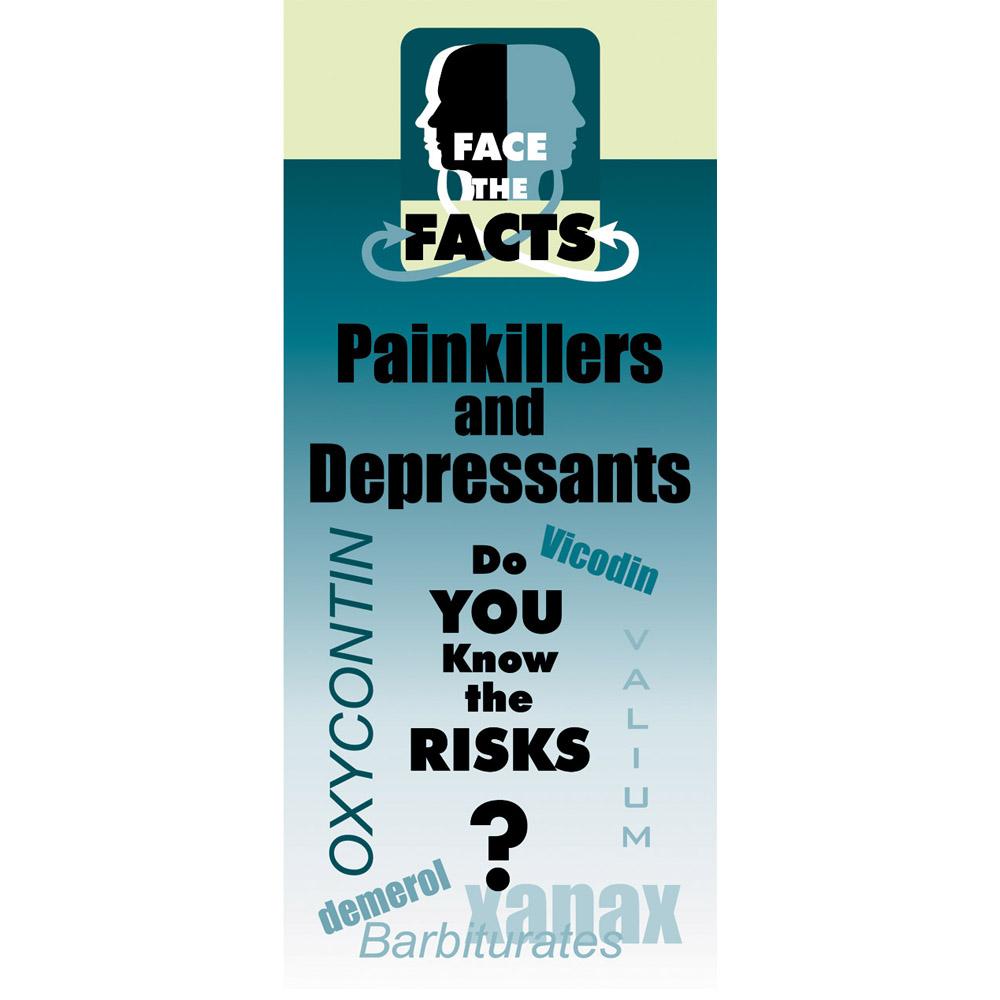 Face the Facts: (25 Pack) Pain Killers & Depressants Drug Prevention Pamphlet