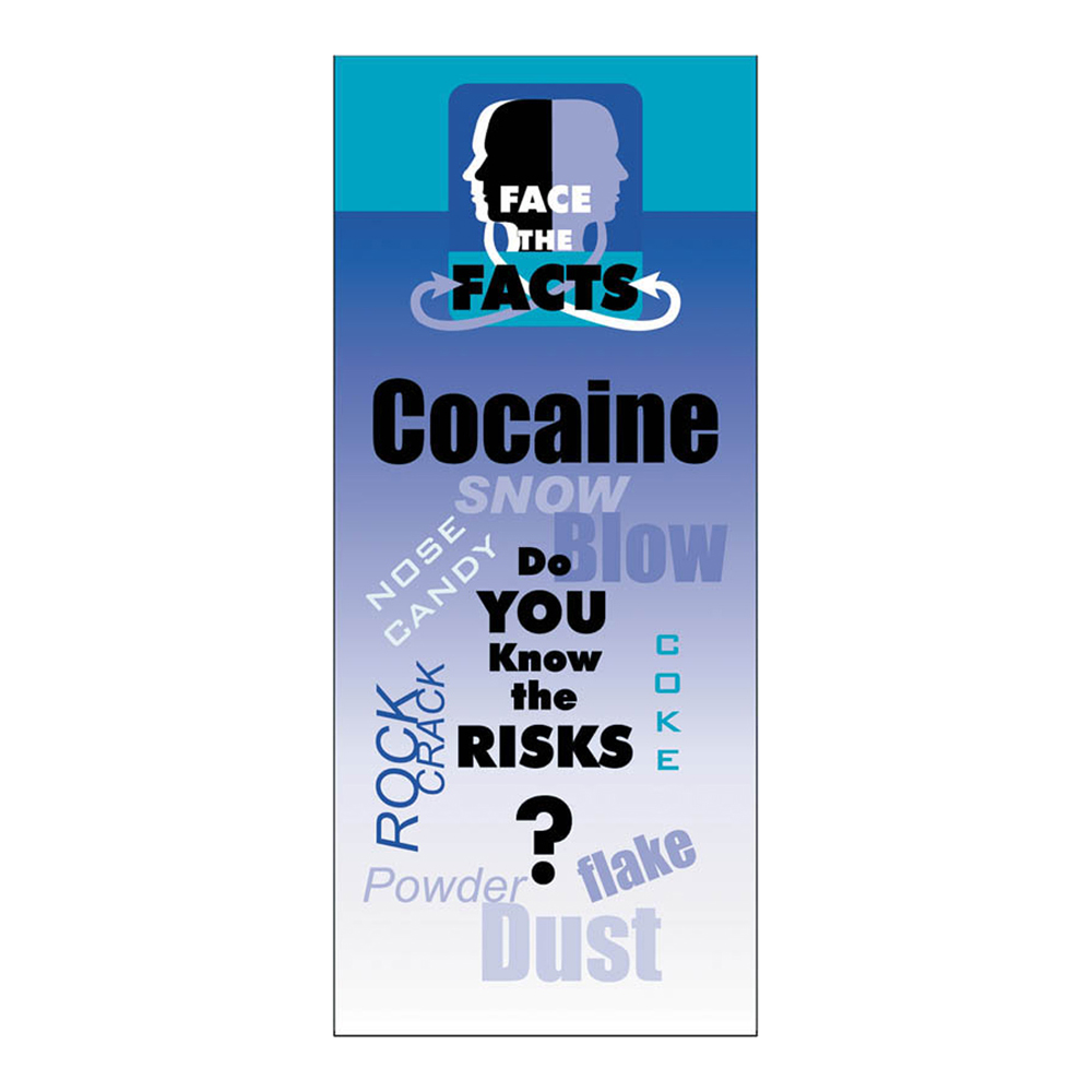 Face the Facts: (25 Pack) Cocaine Drug Prevention Pamphlet