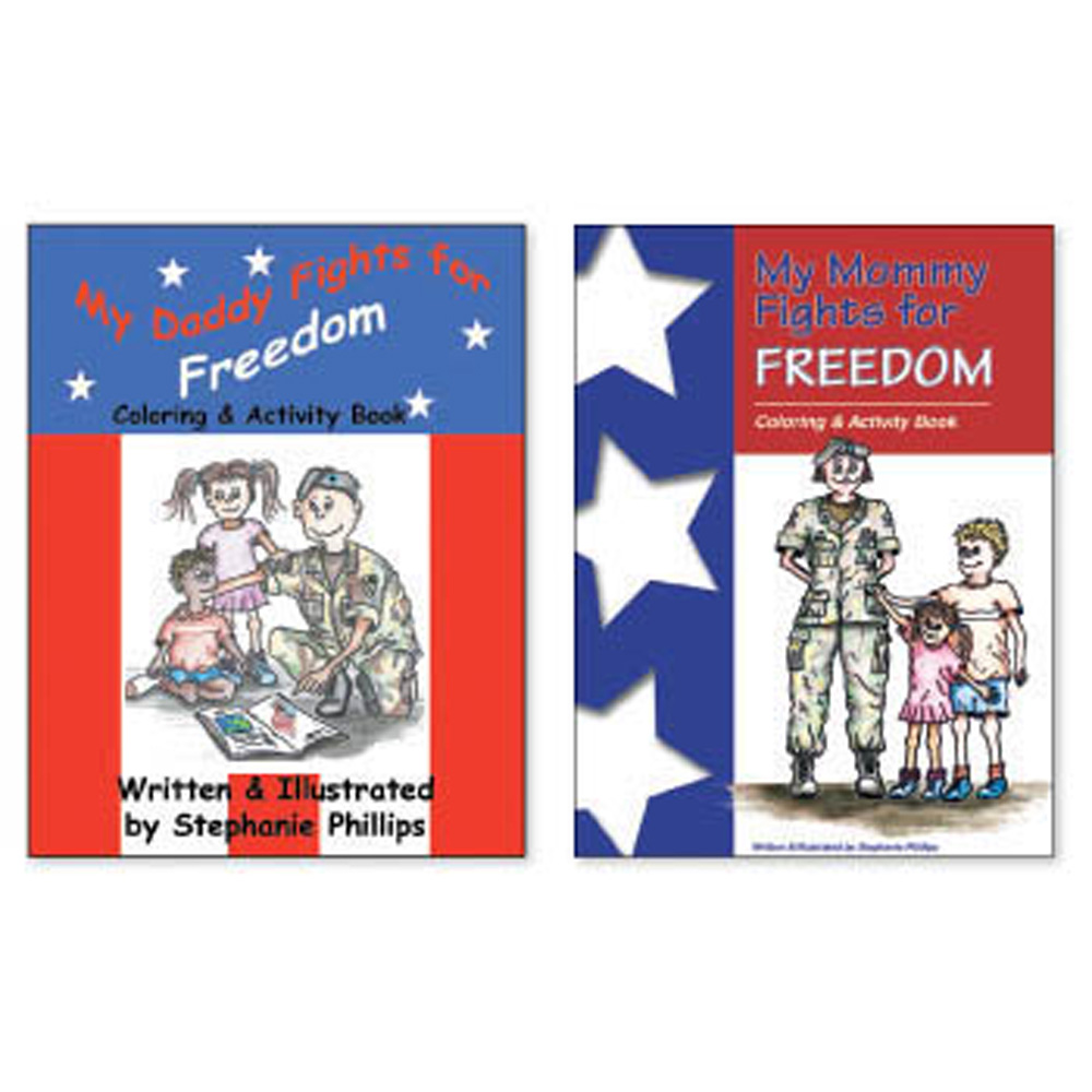 My Daddy/My Mommy Fights for Freedom Coloring/Activity Book Set