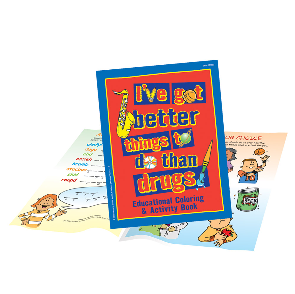 I've Got Better Things To Do Than Drugs (25 Pack) Activity Book