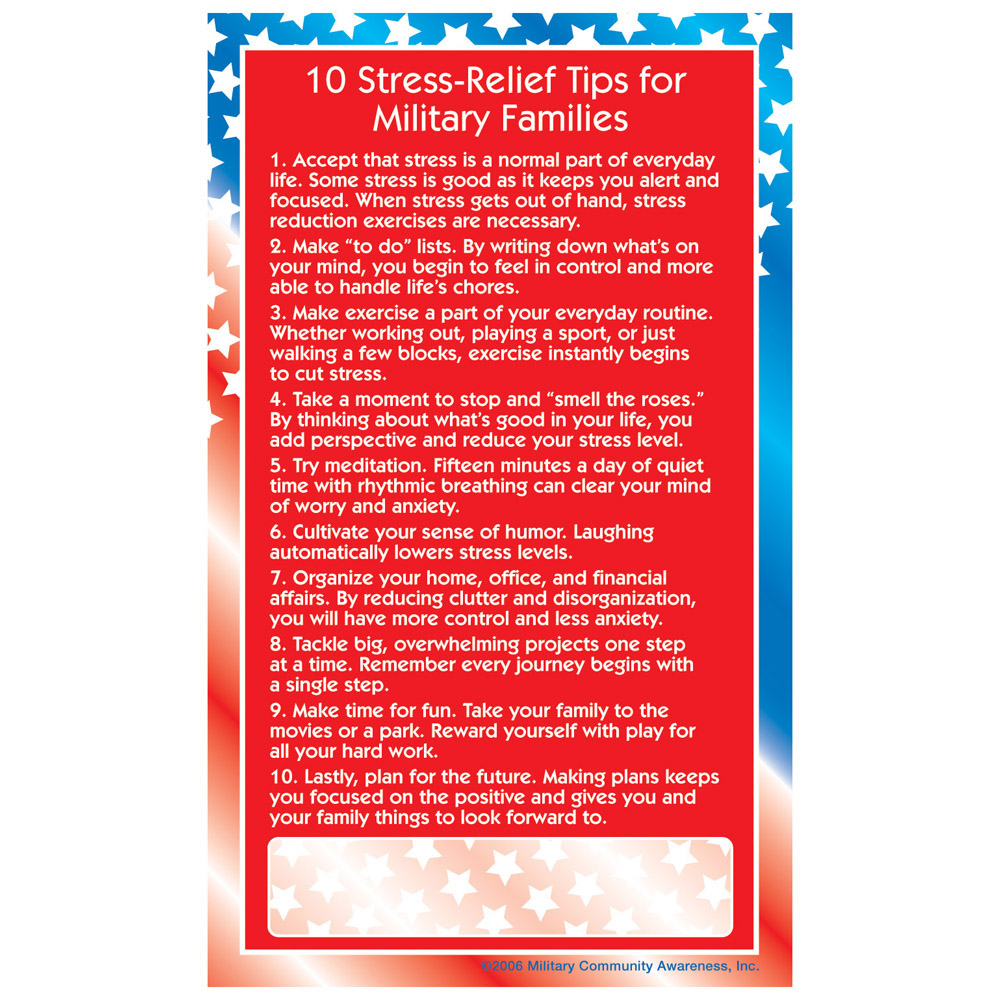 Positive Message Magnet: (25 Pack) 10 Stress Relief Tips