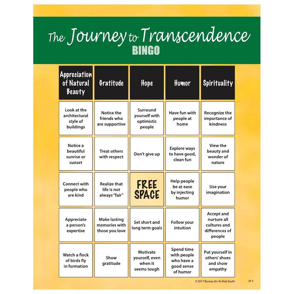 The Journey to Transcendence   Teen Bingo Game