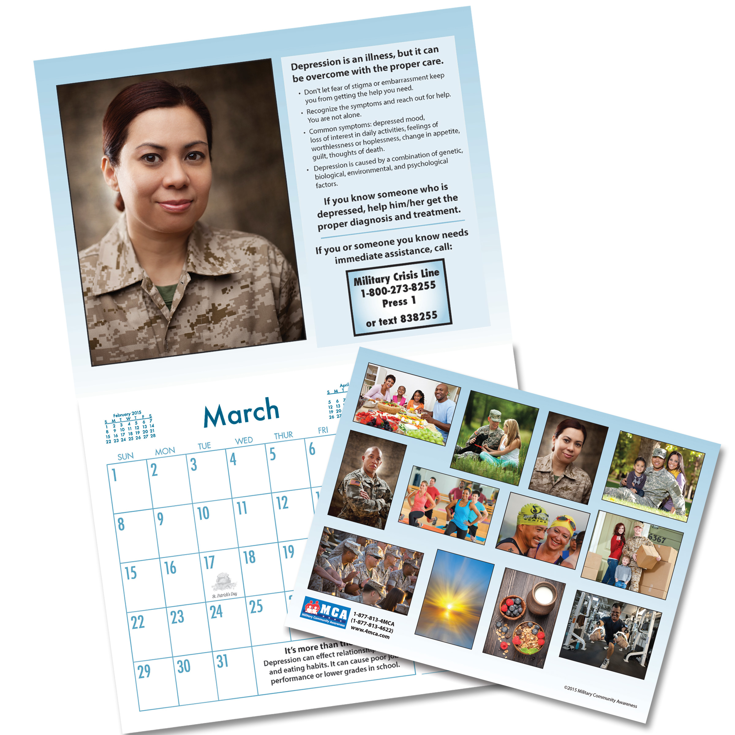 Custom Military Wellness Calendar