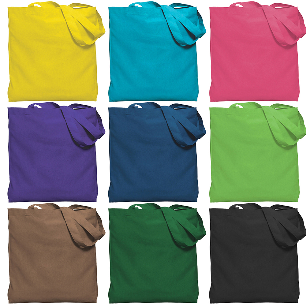 Color Gusseted Economy Tote