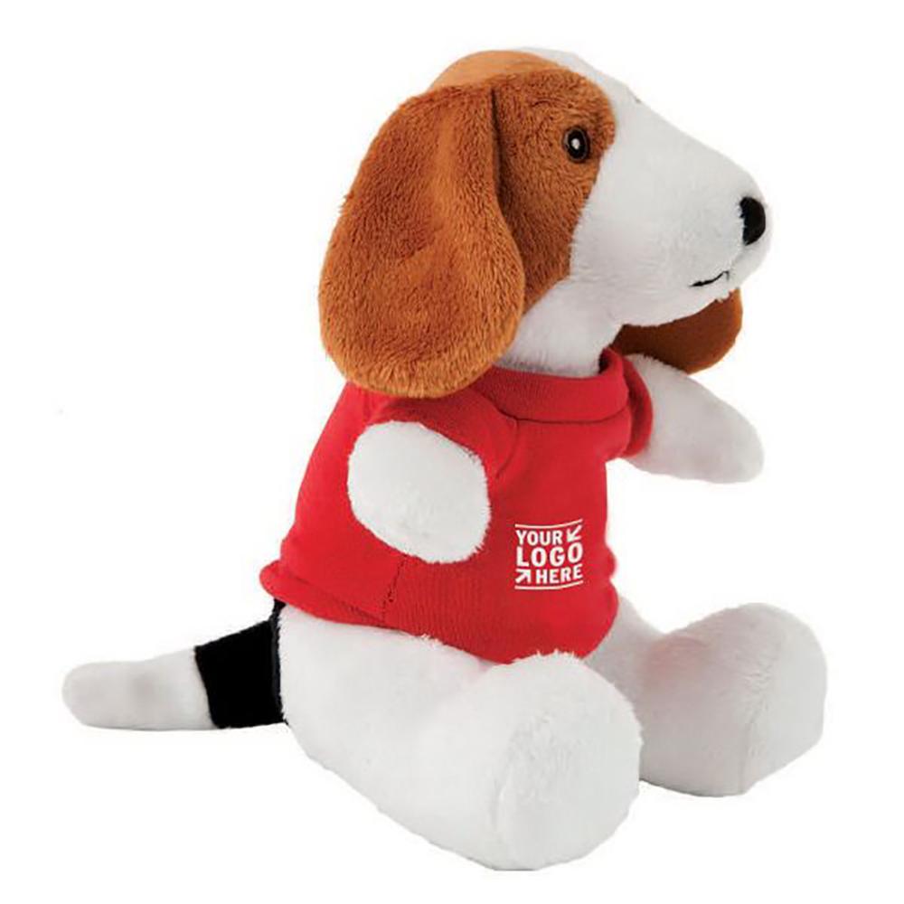 "8"" Super Soft Beagle With T Shirt, Ribbon or Bandana"