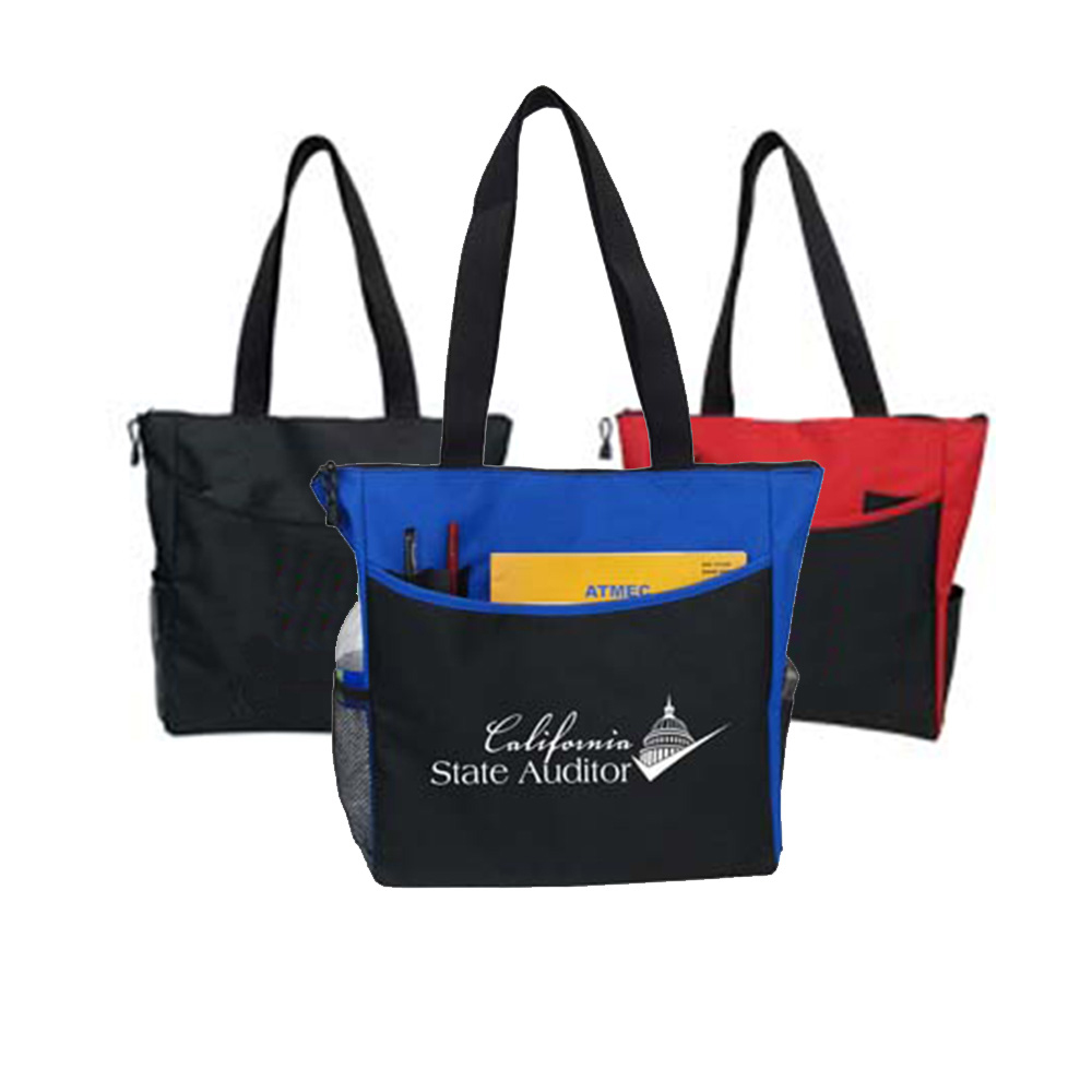 Convention Tote With Side Pockets