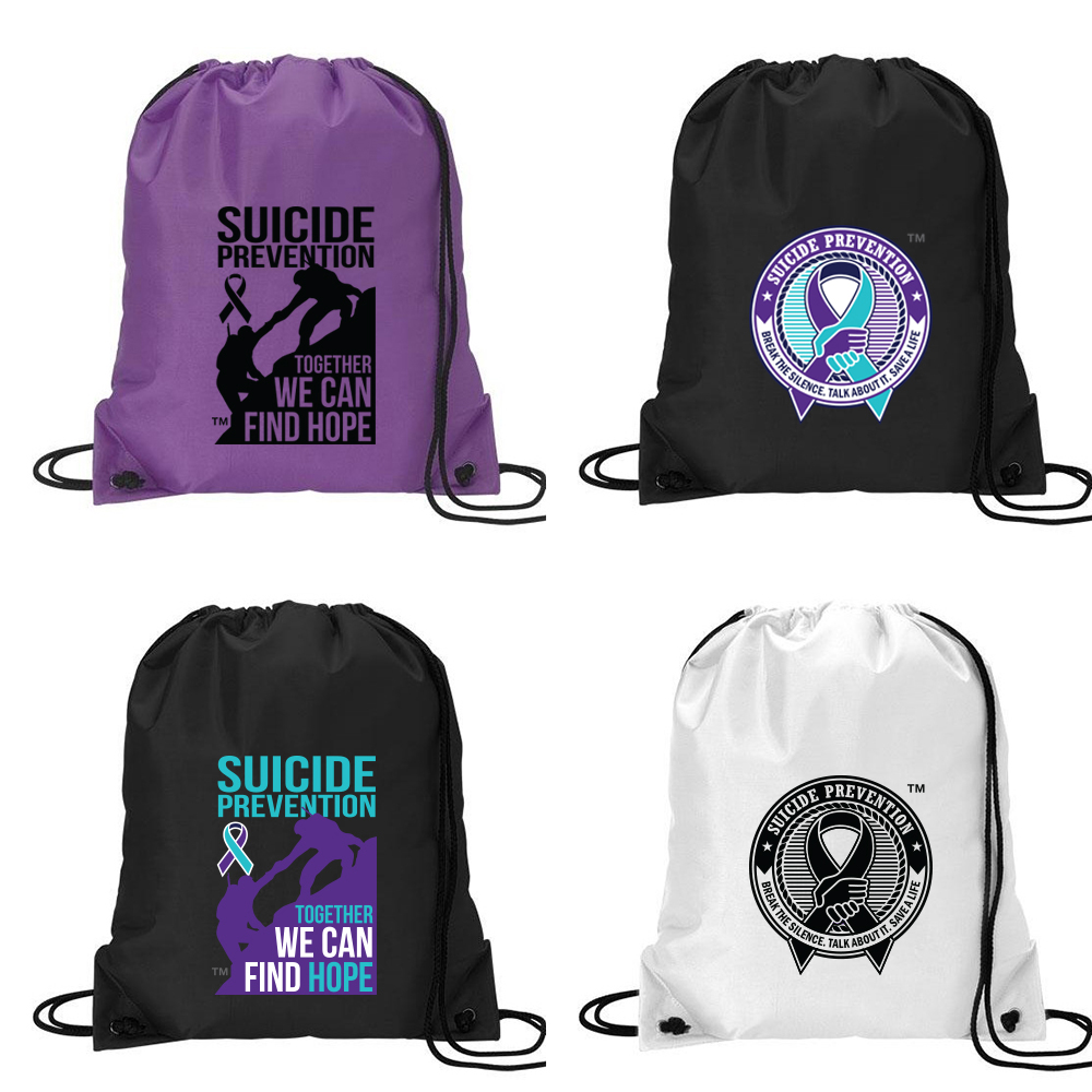 Suicide Prevention Drawstring Sport Pack