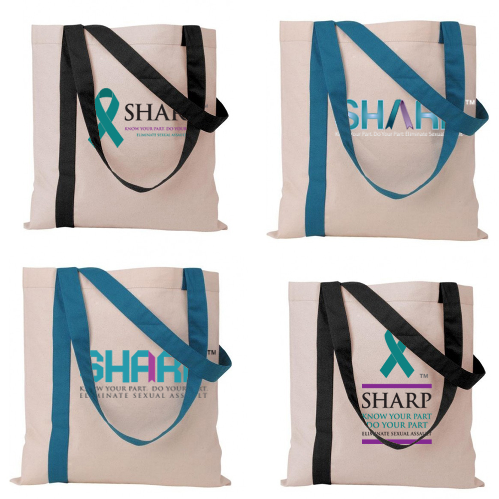 SHARP Striped Economy Tote
