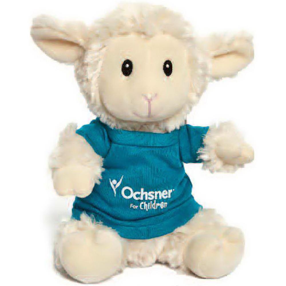 "8"" Super Soft Sitting Sheep with T Shirt, Ribbon, or Bandana"