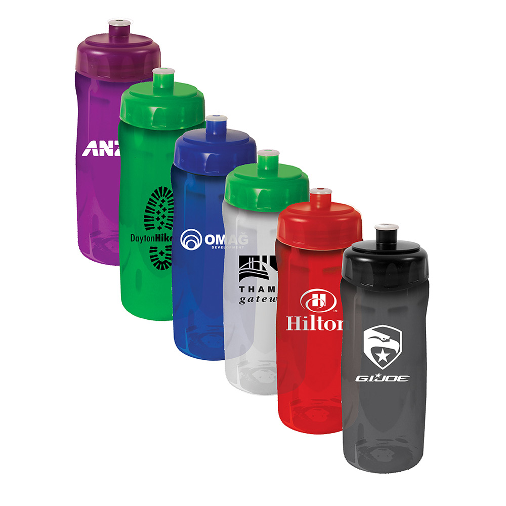 18 oz. Poly Saver PET Bottle With Push n Pull Cap