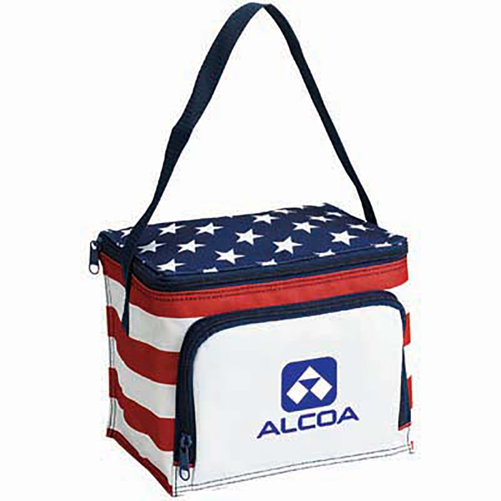 Patriotic Polyester Cooler Bag