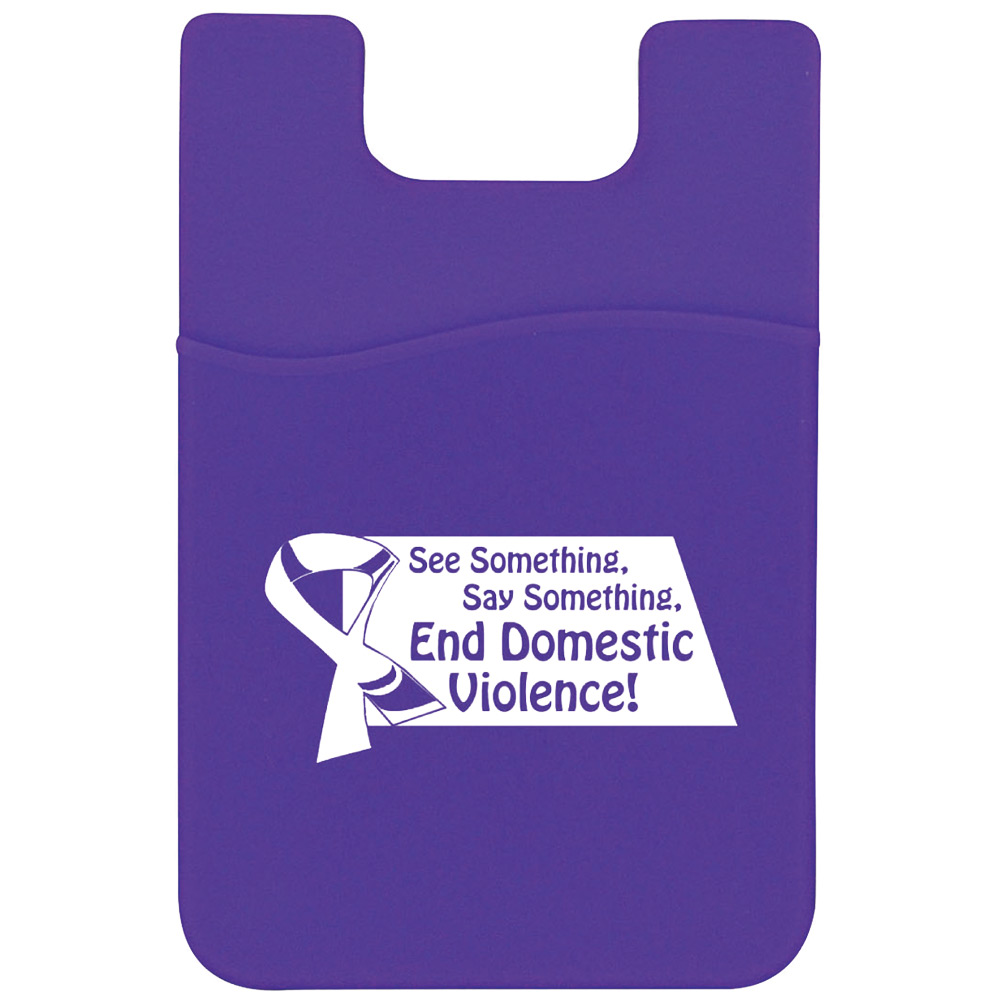End Domestic Violence Silicone Mobile Pocket