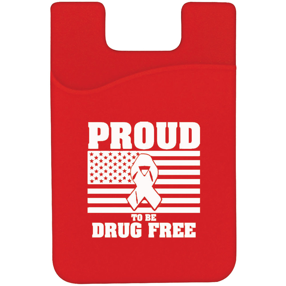 Proud To Be Drug Free Silicone Mobile Pocket