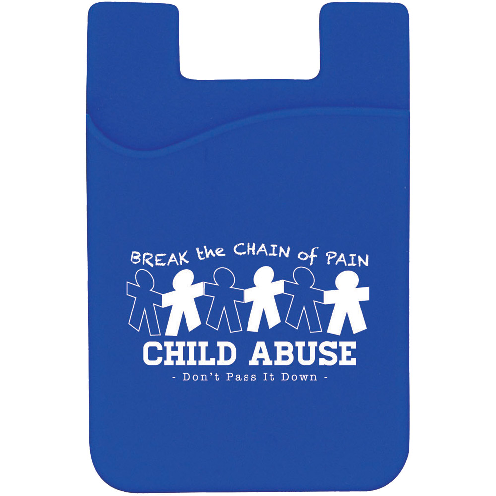 Child Abuse Silicone Mobile Pocket