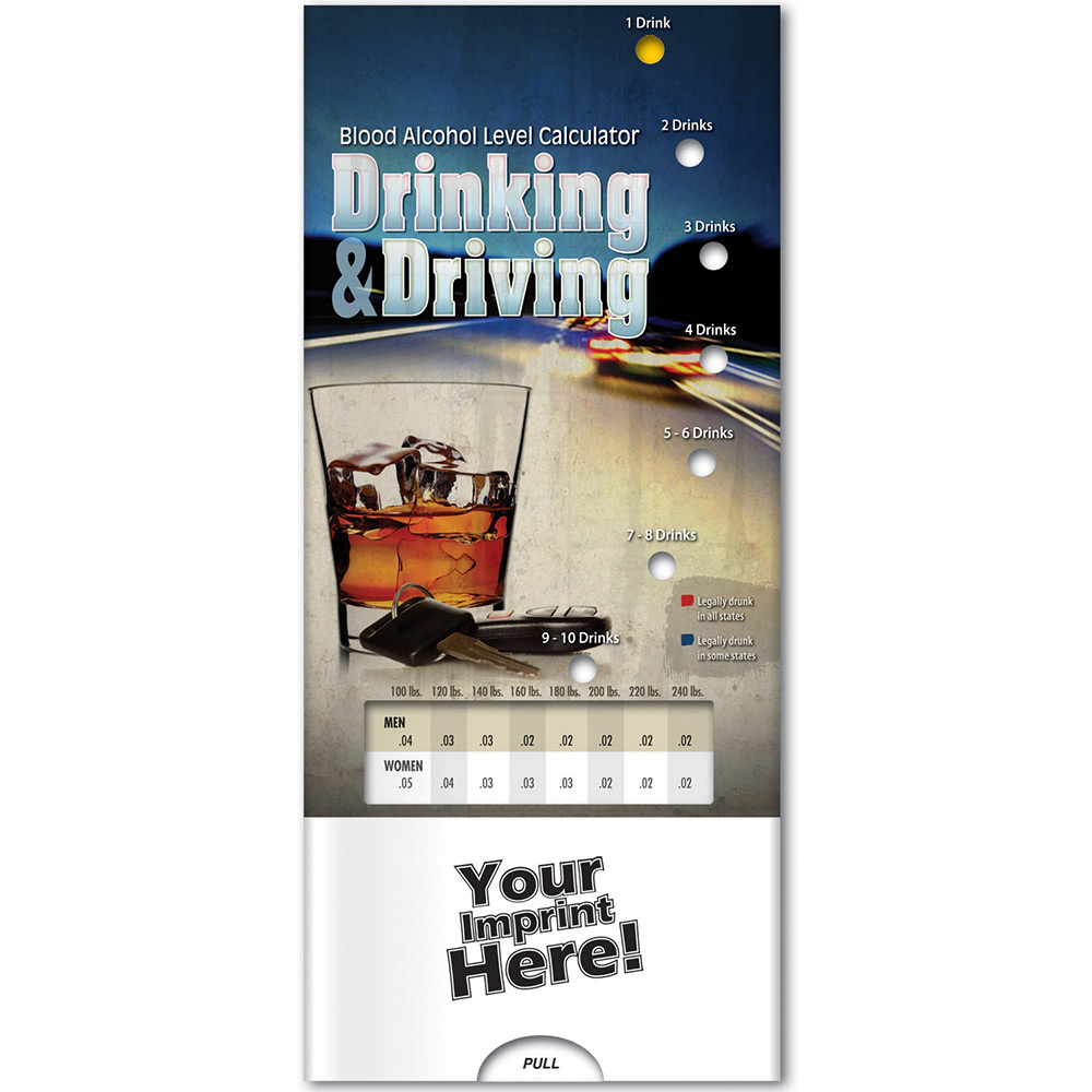 Drinking and Driving: Blood Alcohol Level Calculator Pocket Slider