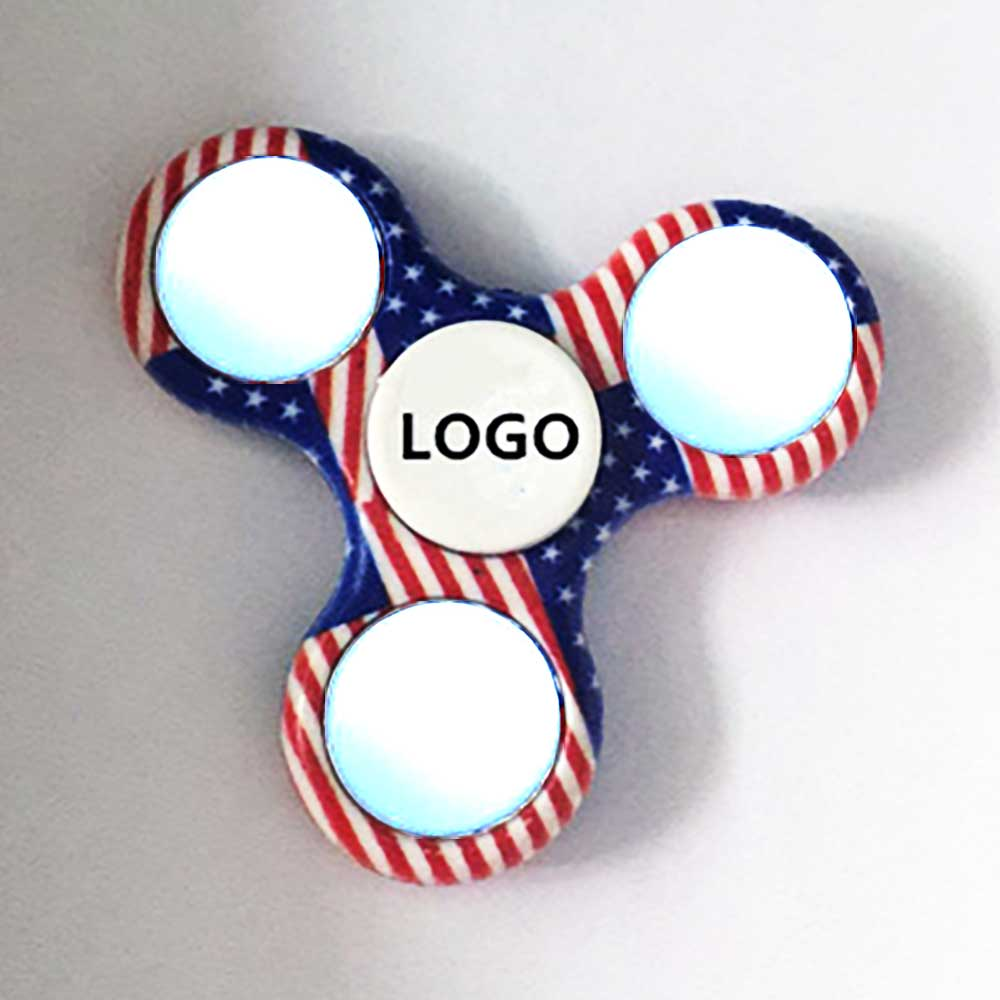 Light Up Patriotic Spinner
