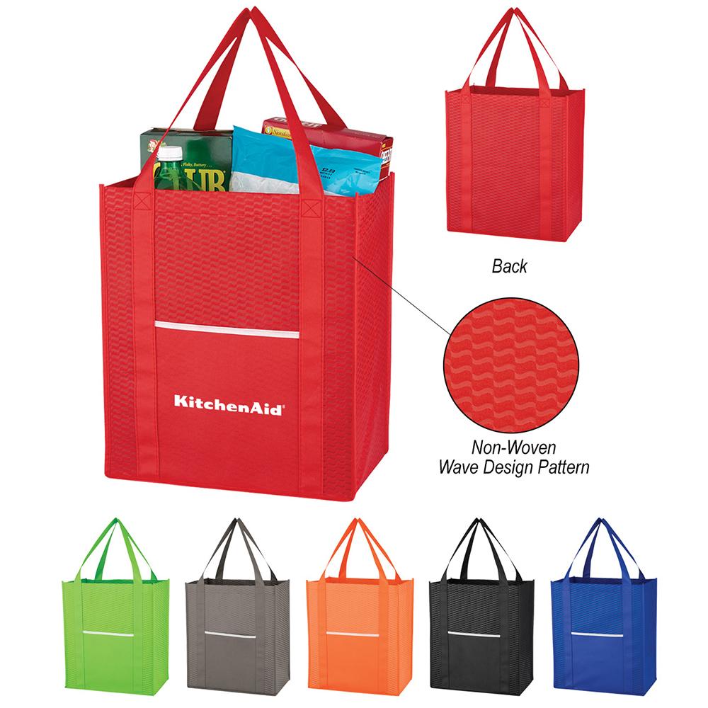 """13"""" x 15"""" x 8"""" Non Woven Shopper Tote Bag"""