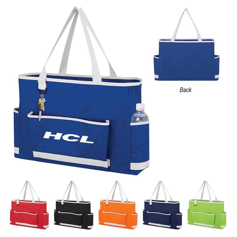 Tri Pocket Tote Bag