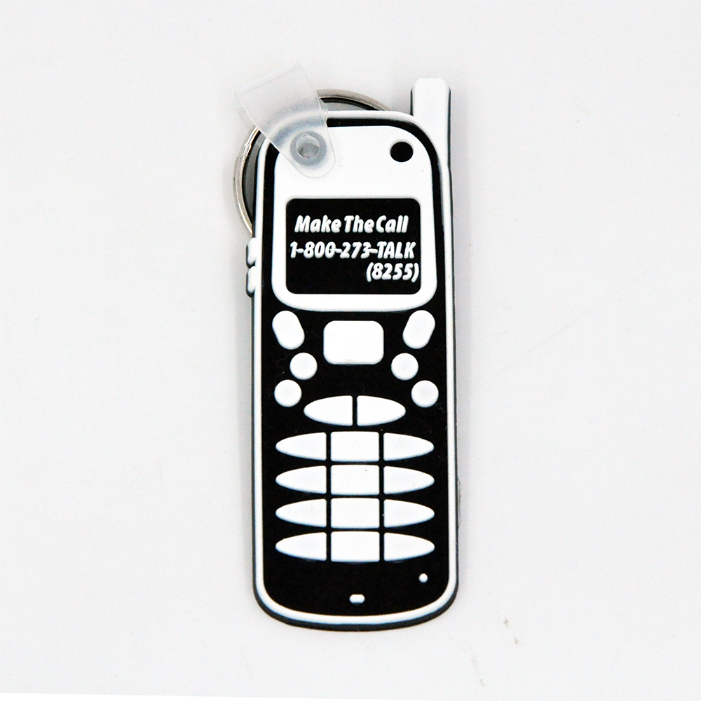PVC Soft Cell Phone Keychain
