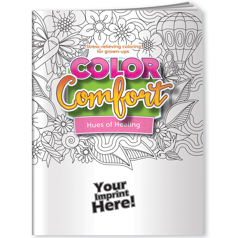 Hues of Healing (Breast Cancer Awareness) Color Comfort Adult Coloring Book