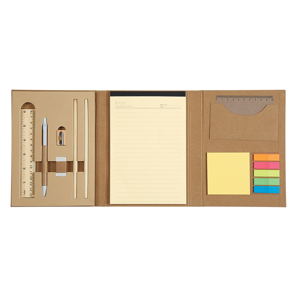 Eco Inspired Tri Fold Stationary Set