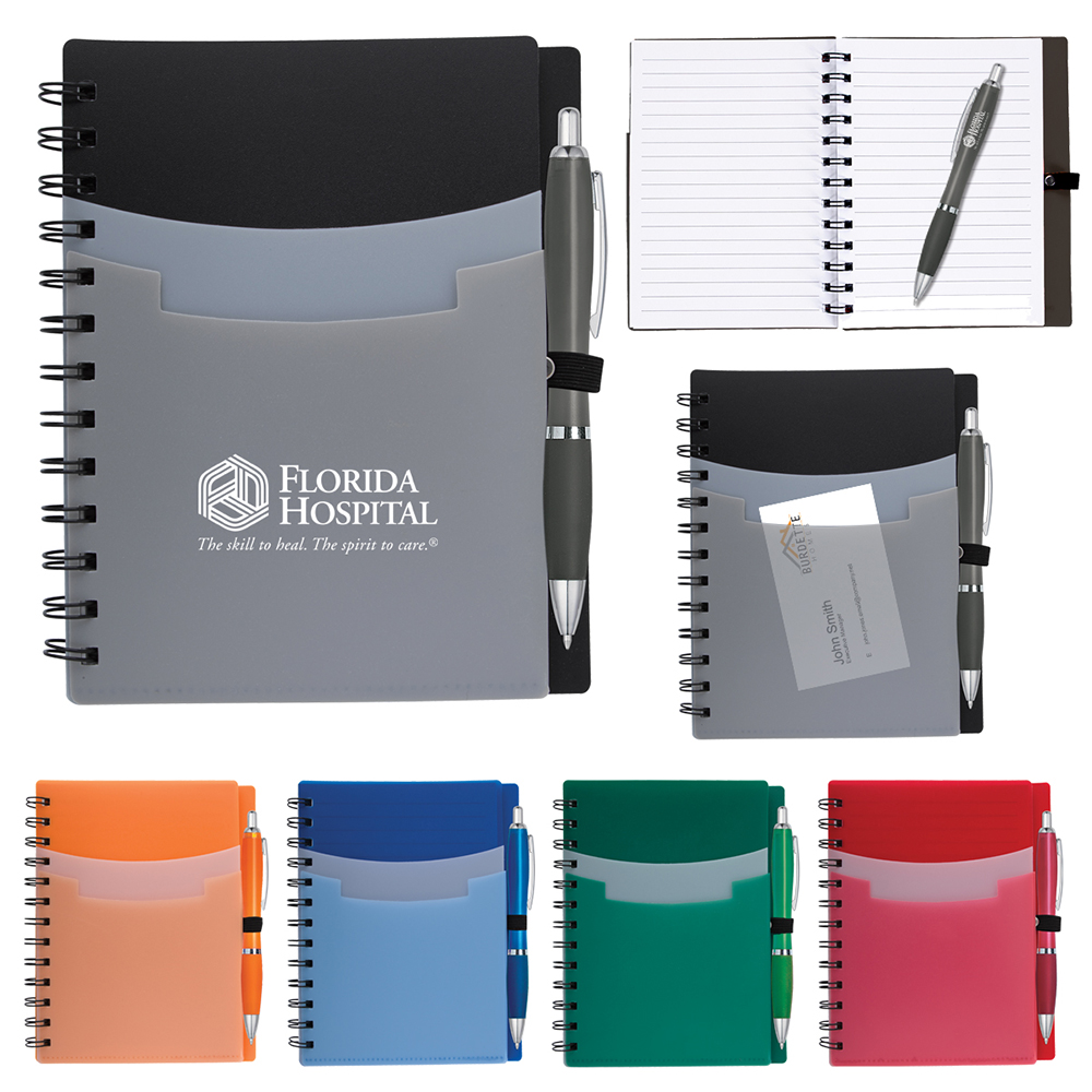 Tri Pocket Notebook & Satin Pen
