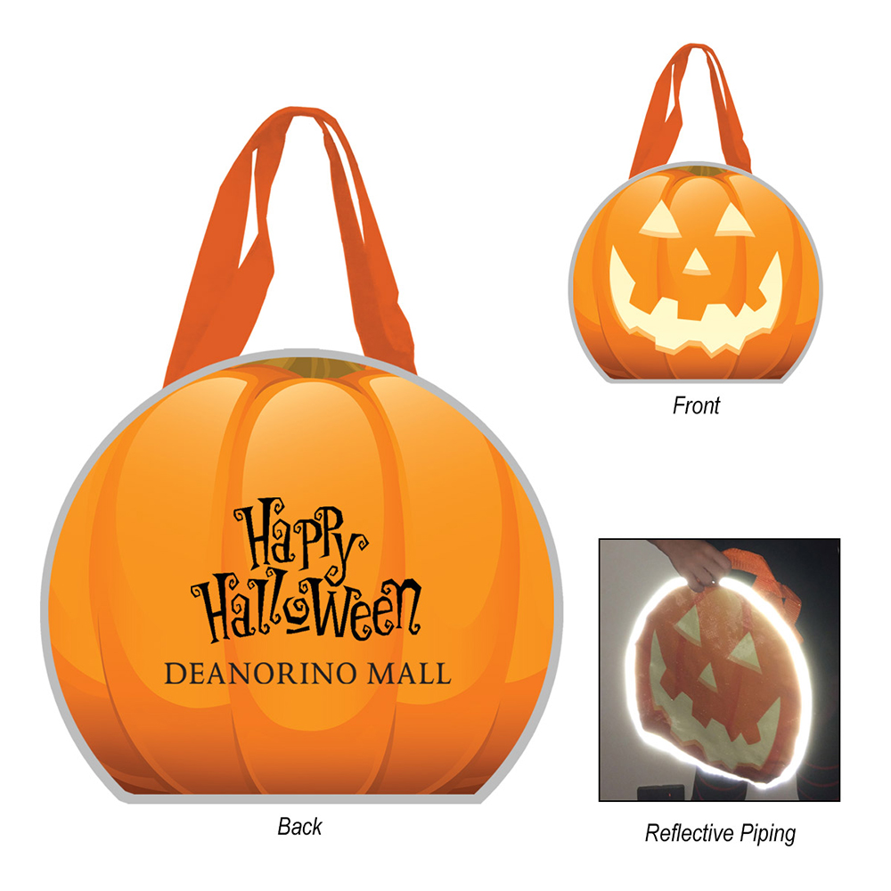 Reflective Halloween Pumpkin Non Woven Tote Bag