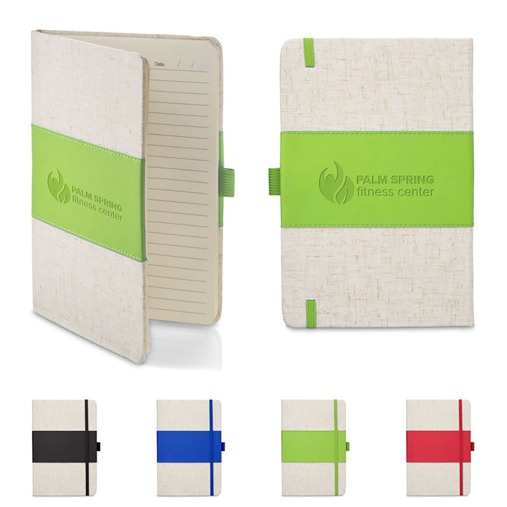 5 x 7 Soft Cover PU  & Heathered Fabric Journal