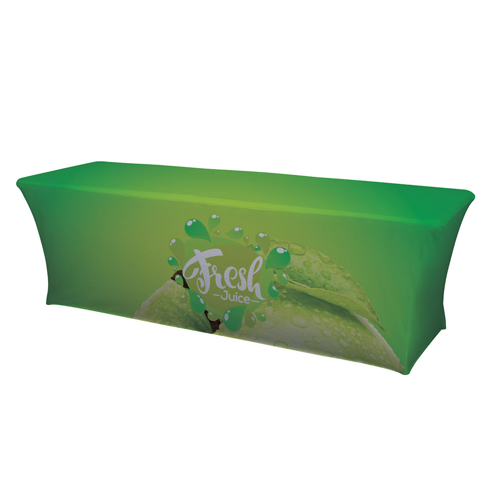 8' UltraFit Curve Table Throw With Full Color